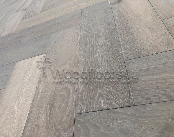 Active Grey Herringbone Oak Engineered Parquet