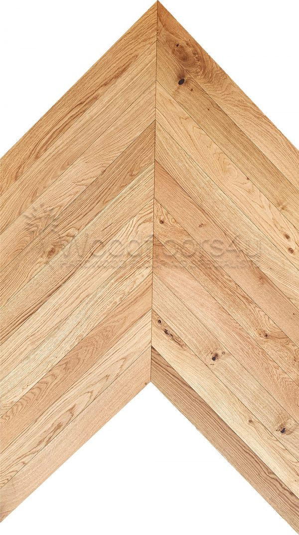 natural chevron engineered oak flooring