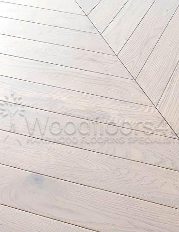 Mist Grey Oak chevron engineered oak flooring