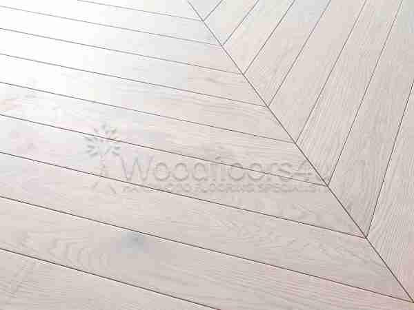 Mist Grey Oak chevron engineered oak flooring
