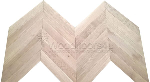 Solid Oak Chevron Unfinished Flooring