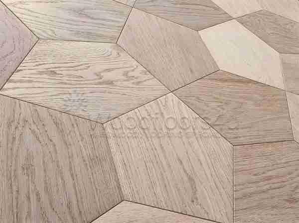 pentagon Crown Geometric Engineered Wood Flooring