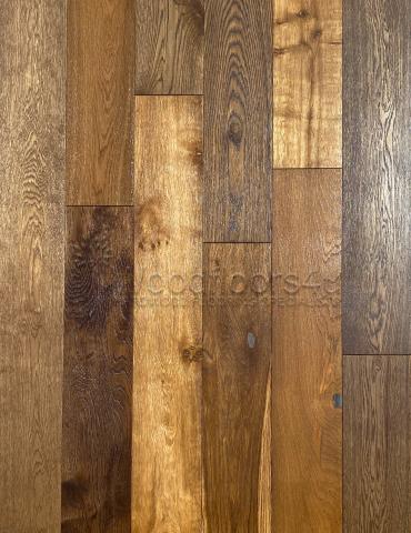 190 x 20mm Smoked Oak Brushed & Oiled Engineered Wood Flooring