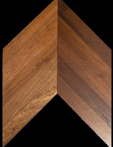 Smoked Oak Chevron Engineered Wood Flooring